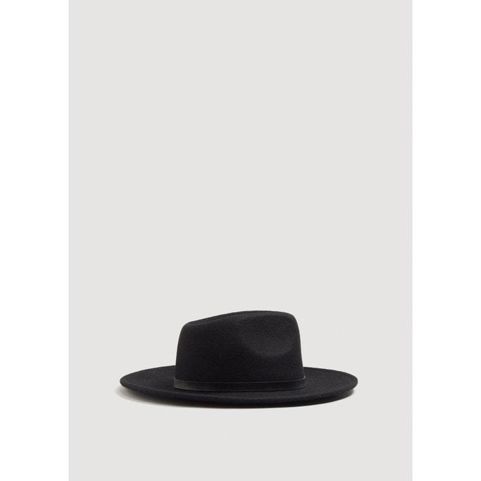 Chapeau fedora en laine noir Mango Man   La Redoute Très Bon Marché fwPbuo8hZi