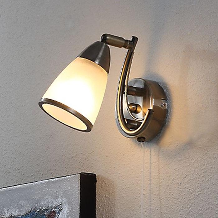 attrayante applique irma laiton ancien blanc laiton ancien lampenwelt la redoute. Black Bedroom Furniture Sets. Home Design Ideas