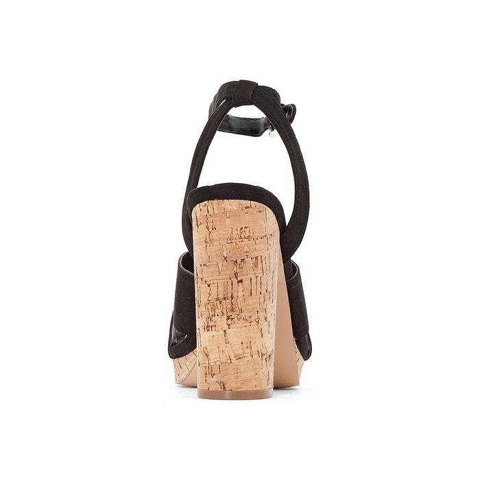 Escarpins cuir talon liège La Redoute Collections