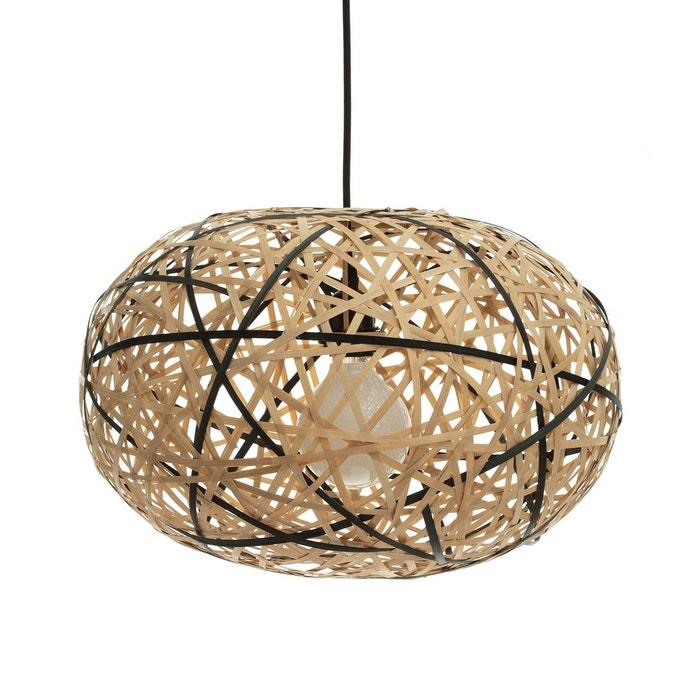 suspension bambou naturel noir 45 cm faciende naturel noir am pm la redoute. Black Bedroom Furniture Sets. Home Design Ideas