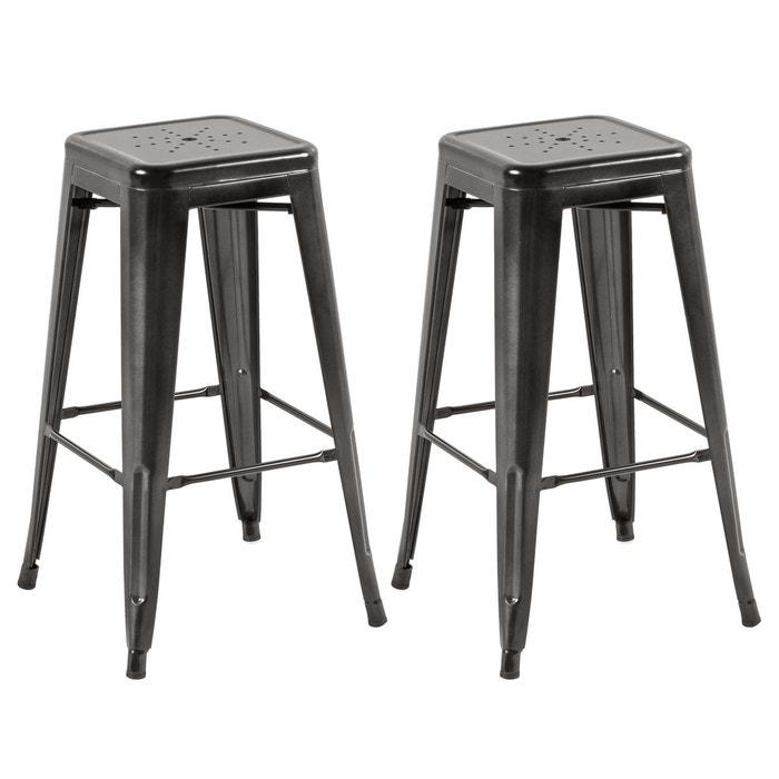 tabouret de bar indus 73 cm lot de 2 rendez vous deco la redoute. Black Bedroom Furniture Sets. Home Design Ideas