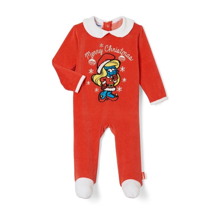Imagen de Pijama de terciopelo con pies, 3 meses - 2 años LES SCHTROUMPFS