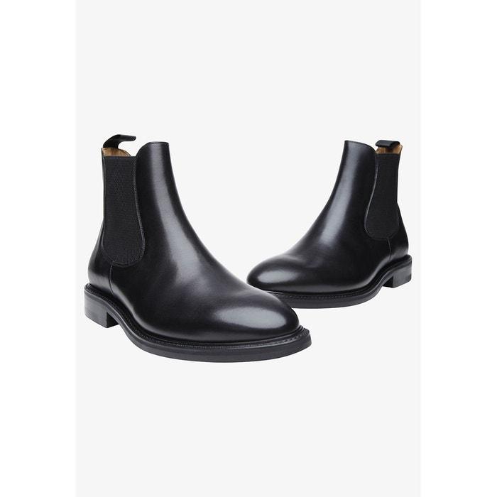 Sneaker italian calf en marron noir Shoepassion