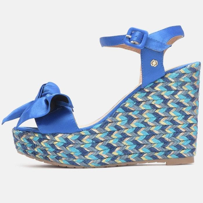 Sandales à talon compensé bleu Cuple Le Plus Grand Fournisseur 2018 Pas Cher En Ligne 1kjBeKGmQL