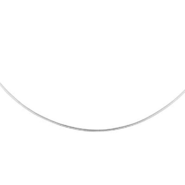 Collier fil fin cou 40 cm maille oméga ronde 1,35 mm argent 925 couleur unique So Chic Bijoux | La Redoute