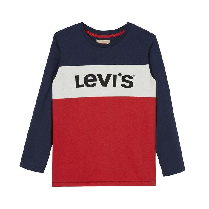 tee shirt 3 16 ans bleu blanc rouge levi 39 s kids la. Black Bedroom Furniture Sets. Home Design Ideas