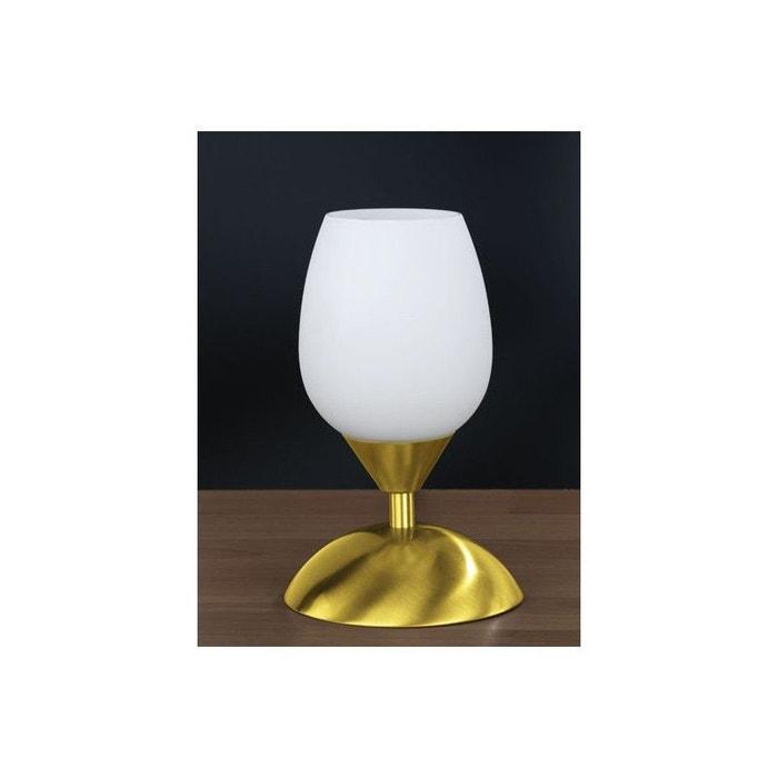lampe de chevet tactile blanc et or dor millumine la. Black Bedroom Furniture Sets. Home Design Ideas