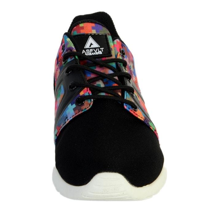 Basket super tech pixel multicolor noir Asfvlt