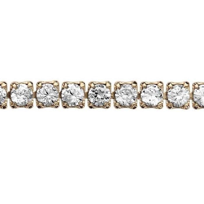Bracelet longueur réglable: 16,5 à 18,5 cm rivière oxyde de zirconium blanc plaqué or 750 couleur unique So Chic Bijoux | La Redoute
