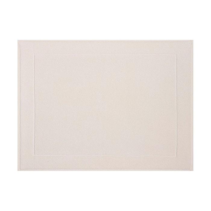 Tapis de bain 80x60 ponge caresse ivoire blanc le - Redoute tapis de bain ...