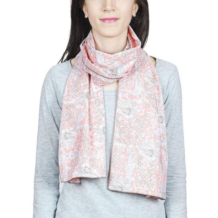 Echarpe coton laguna corail - fabriqué en europe rose Baisers Sales   La  Redoute 08fede30454