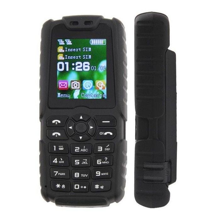 T l phone mobile tout terrain waterproof antichoc lampe torche noir noir yonis la redoute - La redoute telephone gratuit ...
