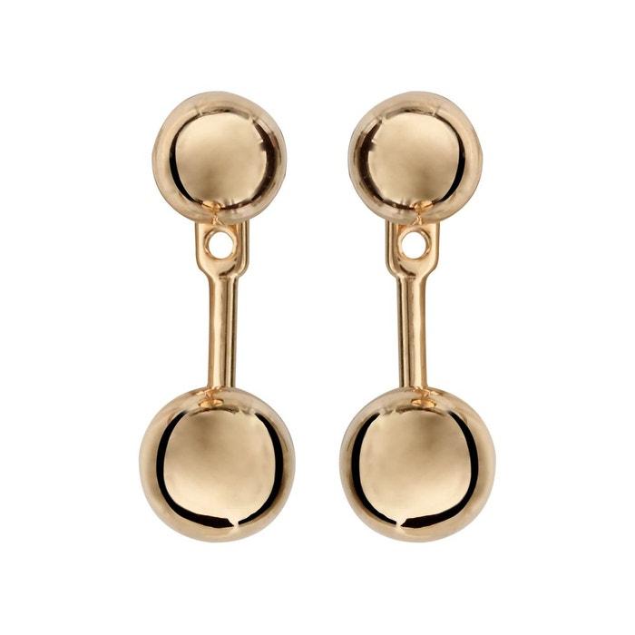 Boucles D Oreilles Suspension Boules Plaque Or 750 So Chic Bijoux