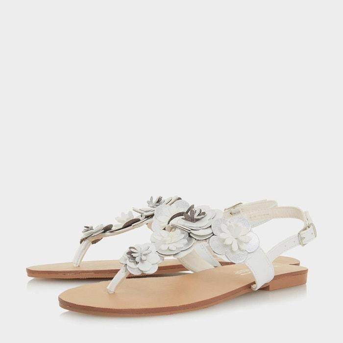 Sandales plates à entredoigt orné motif fleurs - lizza Head Over Heels By Dune