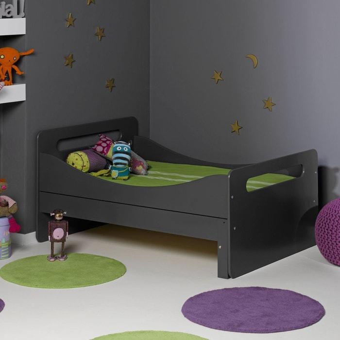 lit volutif avec sommier anthracite 90x140 190 anthracite alfred et compagnie la redoute. Black Bedroom Furniture Sets. Home Design Ideas