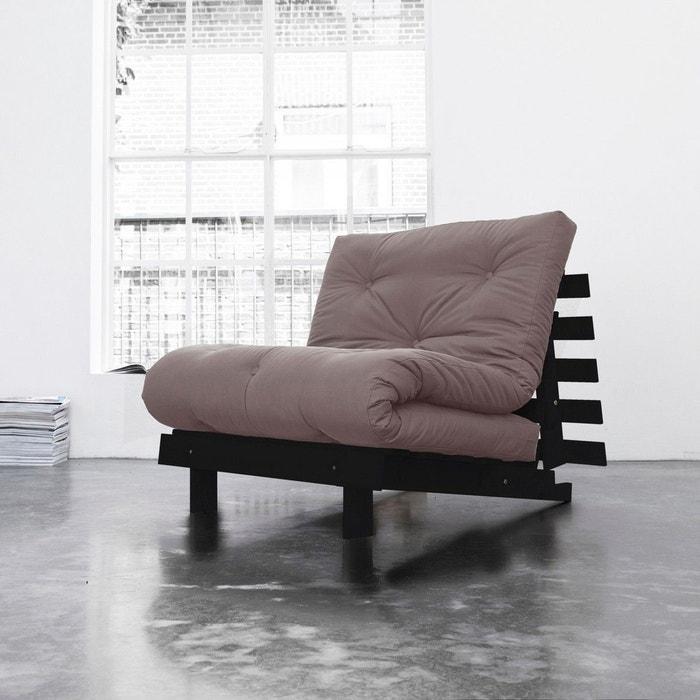 pack matelas futon taupe coton structure en bois weng taupe terre de nuit la redoute. Black Bedroom Furniture Sets. Home Design Ideas
