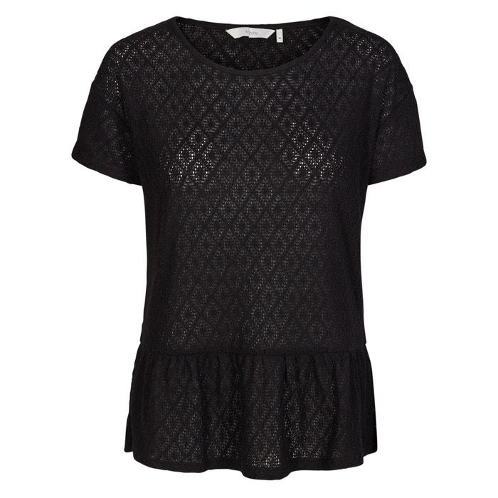 T-shirt scollo rotondo, maniche corte, maglia ricamata  NUMPH image 0