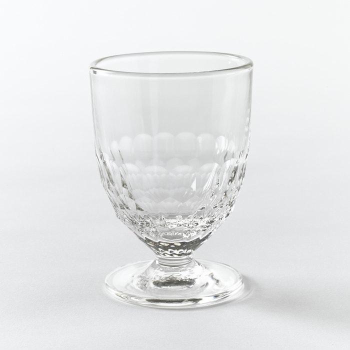 afbeelding Wijnglas, honinggraat motief (set van 6), Cohani La Redoute Interieurs