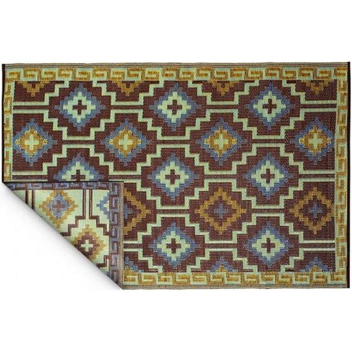 Tapis intérieur extérieur lhasa bleu roi et chocolat marron ...