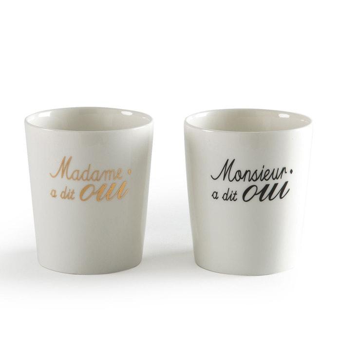 """Coffret de 2 tasses porcelaine """"Mariage"""" MARRYME  La Redoute Interieurs image 0"""