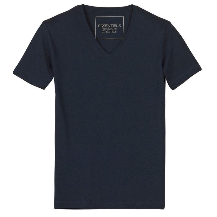 T-shirt con scollo a V in cotone  La Redoute Collections image 0