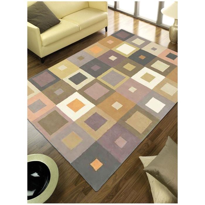 Tapis de salon tapis moderne design estella carre laine Tapis salon carre