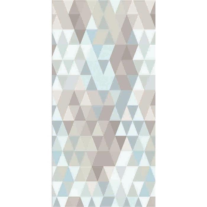 Papier peint intissé losange bleu de gris multicolore Graham Et ...