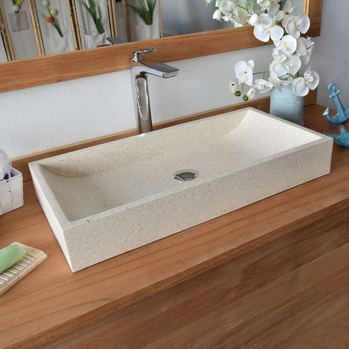 Vasque boreal en terrazzo crème Ocean Line   La Redoute 32bb58830a02