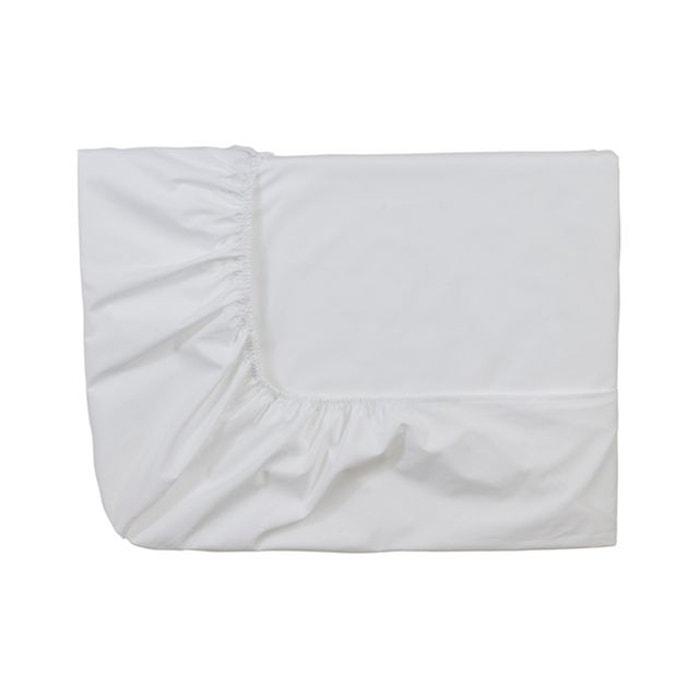 drap housse uni en coton blanc essix la redoute. Black Bedroom Furniture Sets. Home Design Ideas