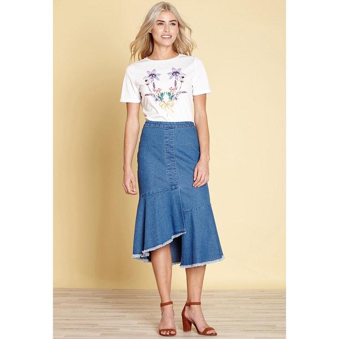 T-shirt con scollo rotondo fantasia, maniche corte  YUMI image 0
