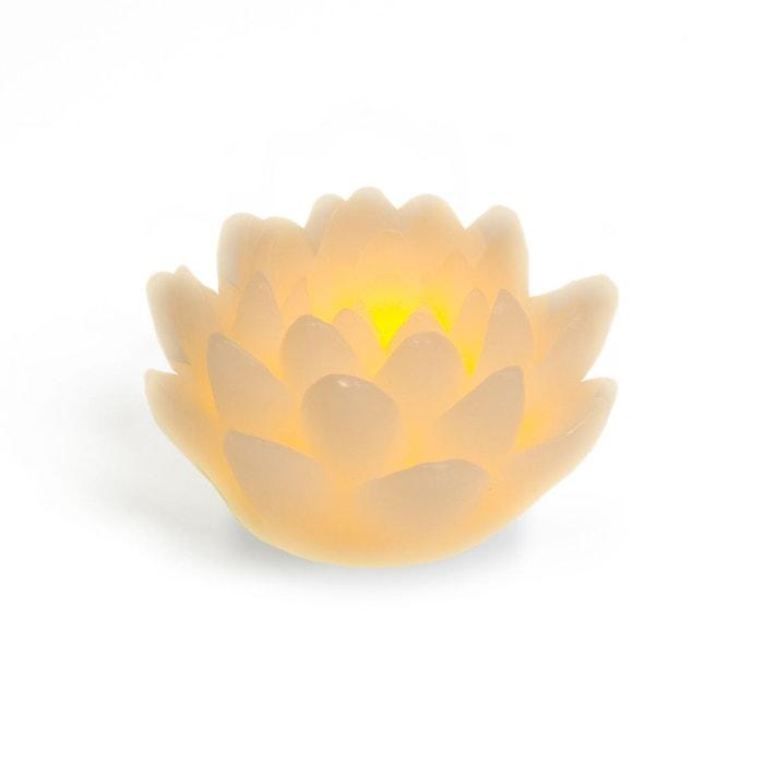 bougie led fleur de lotus couleur unique nature et. Black Bedroom Furniture Sets. Home Design Ideas