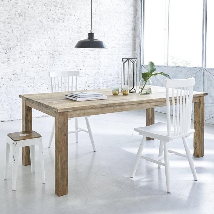 table en bois de teck recycl 200 cm couleur unique bois dessus bois dessous la redoute. Black Bedroom Furniture Sets. Home Design Ideas