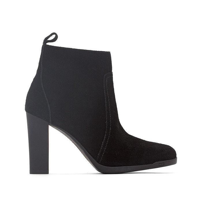 boots cuir nanni noir tommy hilfiger la redoute. Black Bedroom Furniture Sets. Home Design Ideas