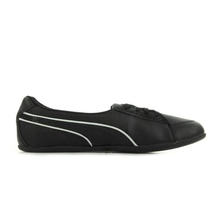 7464054e57 Puma jr myndy ballet ballerines sneakers mode enfant fille noir noir et argent  Puma | La Redoute