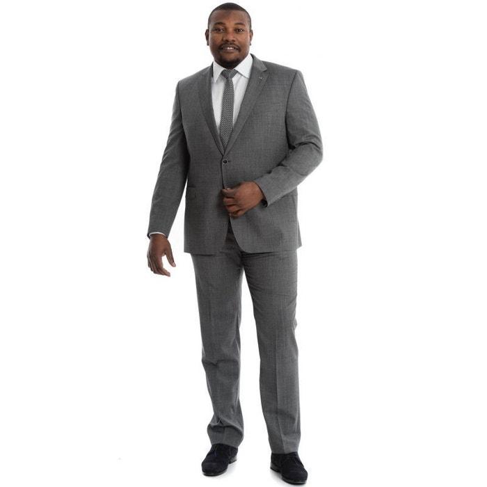 f5fd33869e947 Veste de costume serge gris à carreaux piqués gris La Mode En Large | La  Redoute