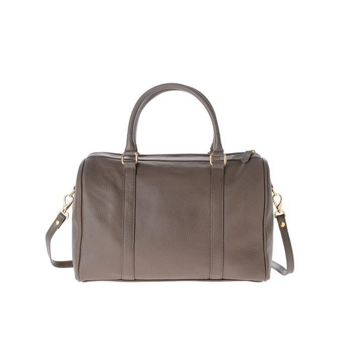 Grand sac mallette pour femme en cuir au grain dollar made in italy avec bandoulière et 2 poignées Dudu | La Redoute Moins Cher À Vendre M73KfCl