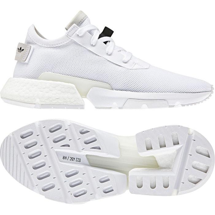 sale retailer 0d4c8 5a3b0 Chaussures pod-s3.1 blanc noir Adidas Originals   La Redoute