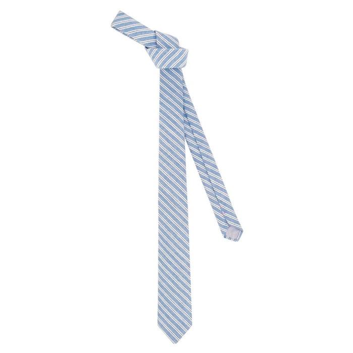 Lieux De Sortie À Vendre Cravate en coton denim a rayures blanche et marine bleu Ikonizaboy   La Redoute Vente Pas Cher Très Footaction Prix Pas Cher Prix Bas zTC0LheE4q