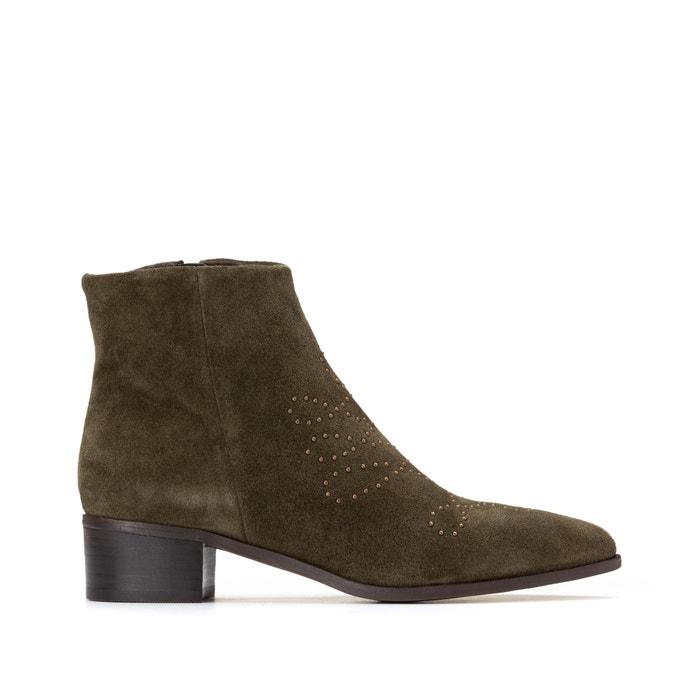 Leren boots met studs  LA REDOUTE COLLECTIONS image 0