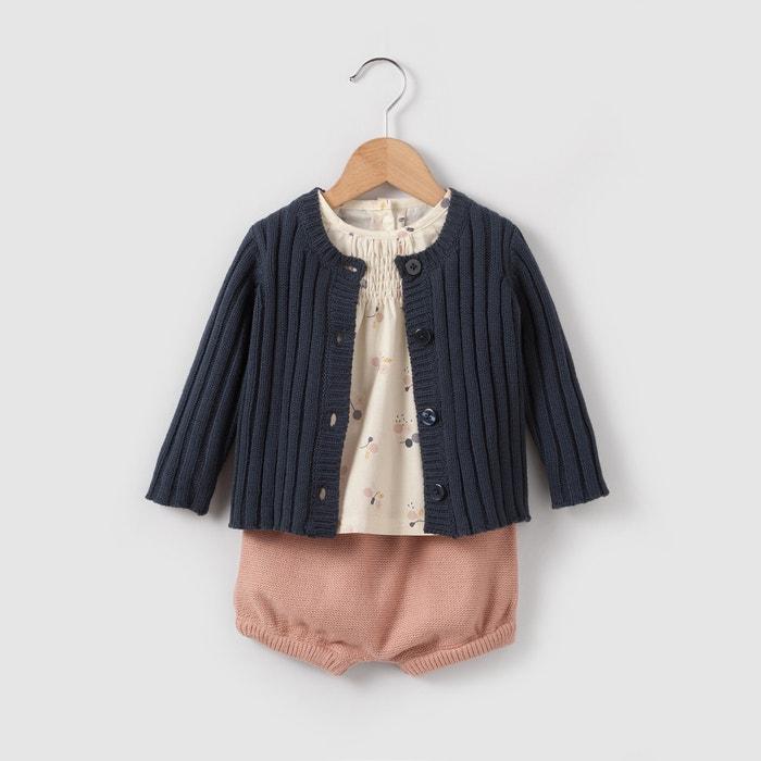 Imagen de Conjunto chaqueta de punto, blusa, bloomer 0 meses-2 años R mini