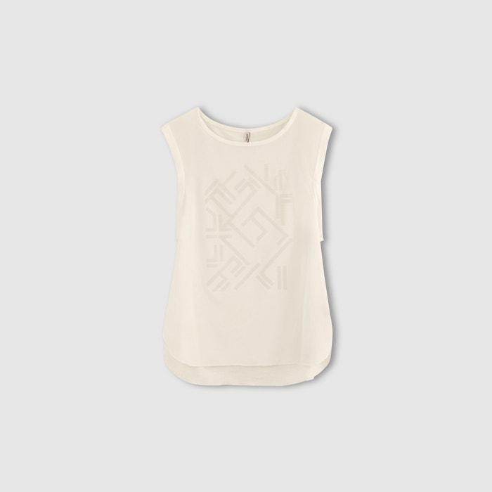 T-shirt com mangas muito curtas, bimatéria, estampada, MYNTE ONLY
