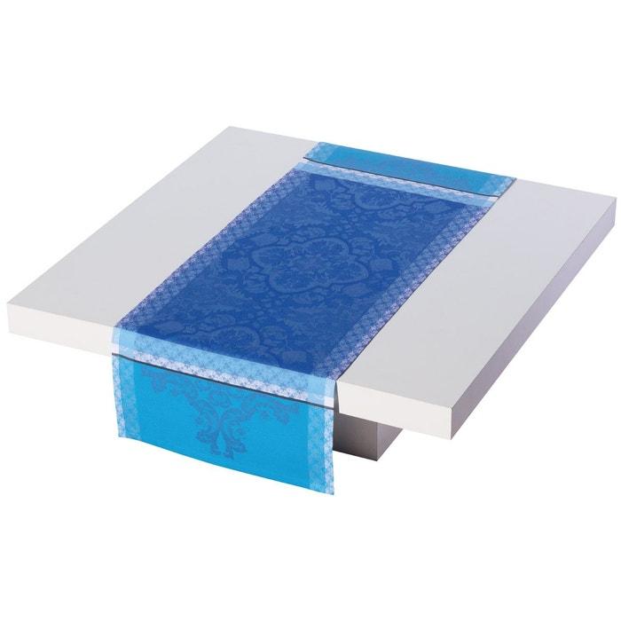 Chemin de table azulejos 100 coton le jacquard francais for Chemin de table lumineux