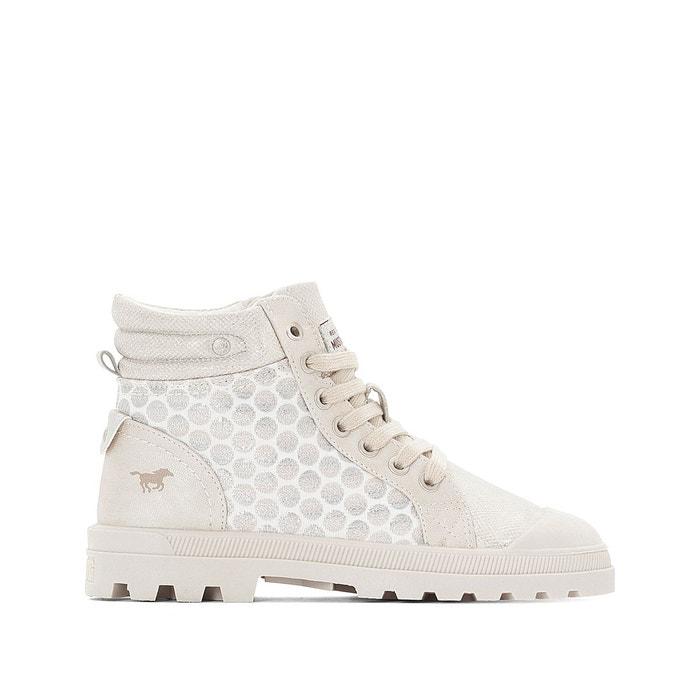 Site Officiel Prix Pas Cher réal Baskets montantes à lacets ivoire Mustang Shoes 7fwa6TYV