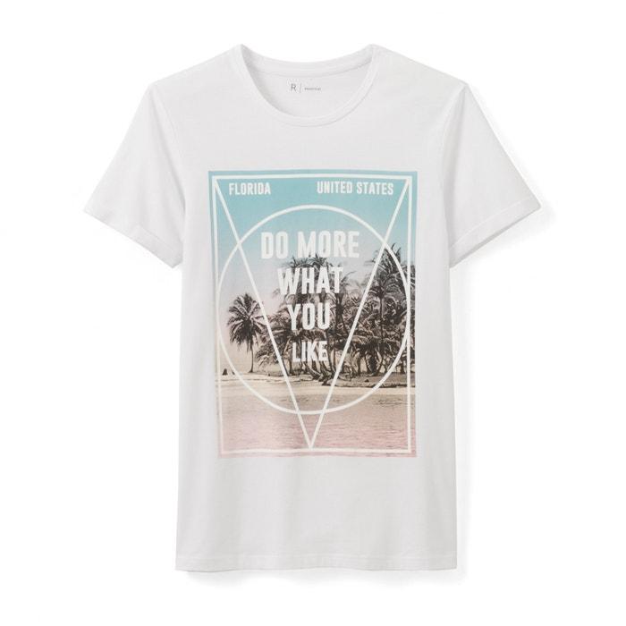 Image T-shirt col rond imprimé R essentiel