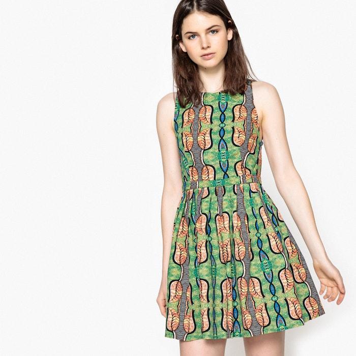 Wijd uitlopende jurk met etnisch motief, zonder mouwen  MADEMOISELLE R image 0
