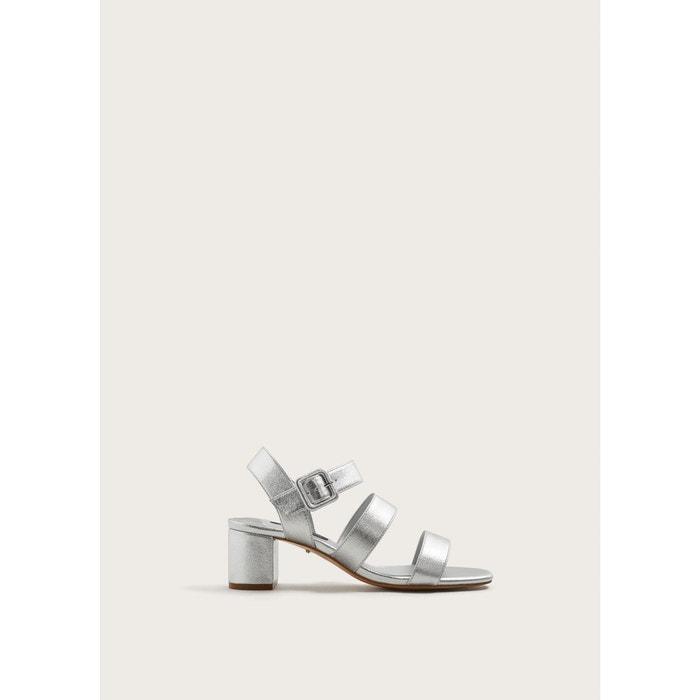 Sandales à lanières métallisées Violeta By Mango ...