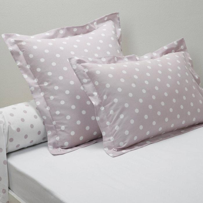 Image Clarisse Polka Dot Print Single Pillowcase La Redoute Interieurs
