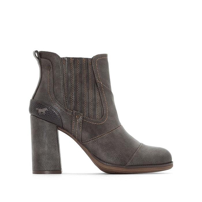 délogeant Boots à talon gris foncé Mustang Shoes Expédition Bas À Vendre Centre De Liquidation y3aLpo6q