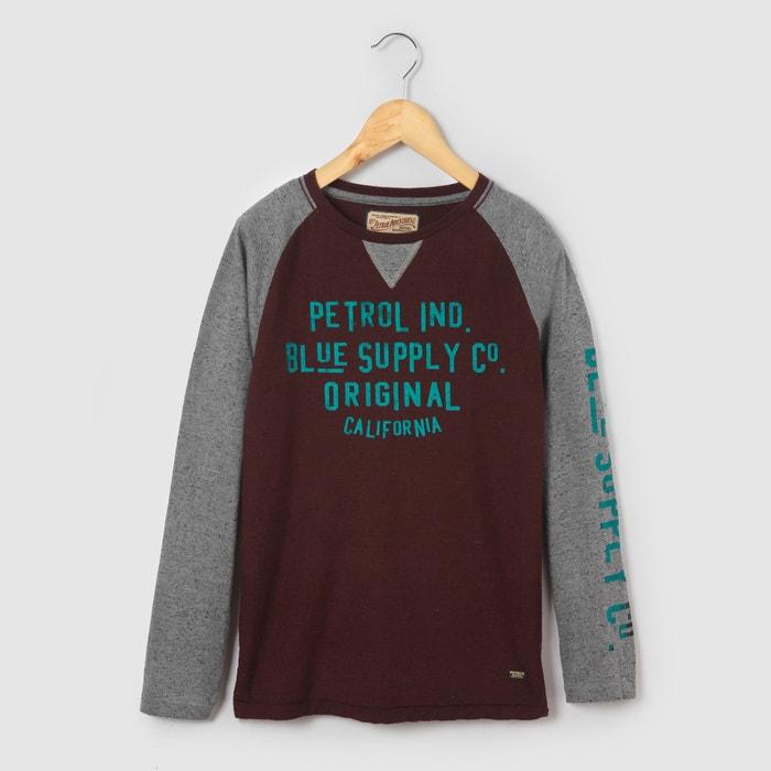 afbeelding Bicolor T-shirt met lange mouwen, 8 - 16 jr PETROL INDUSTRIES