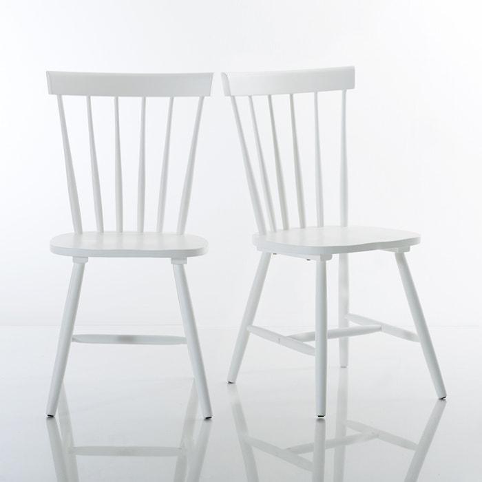 Cadeira com barras, hévea maciça, Jimi (lote de 2) La Redoute Interieurs